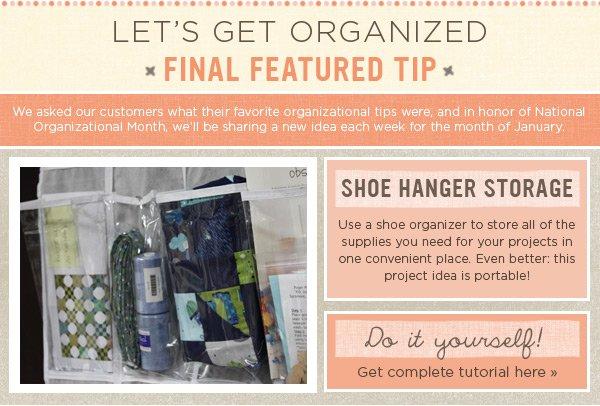 Organizational Tip