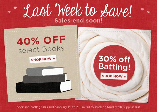 Last Week to Save