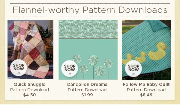 Flannel-worthy Pattern Downloads