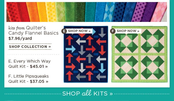 Kits from Quilter's Candy Flannel Basics