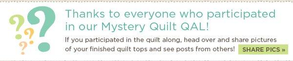 Thanks to Everyone who Participated in our Mystery Quilt QAL