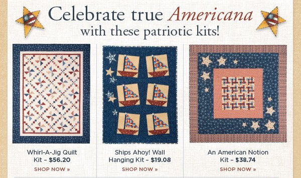 Celebrate true Americana with these Patriotic Kits
