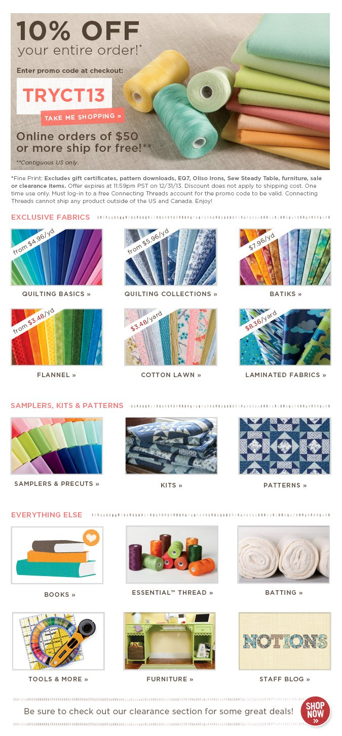 All of your quilting needs in one place