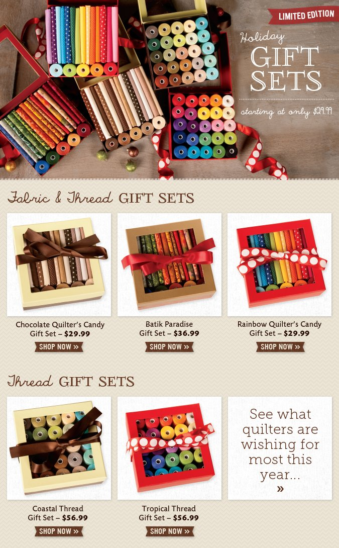 Holiday Gift Sets - Starting at Only $29.99