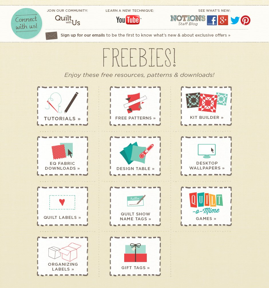 Quilting Freebies