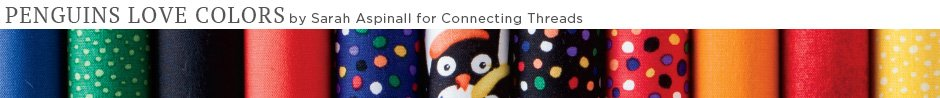 Penguins Love Colors Quilt Fabric
