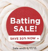 Quilt Batting Sale