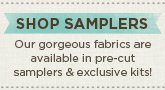Quilting Fabric Samplers and Quilt Kits