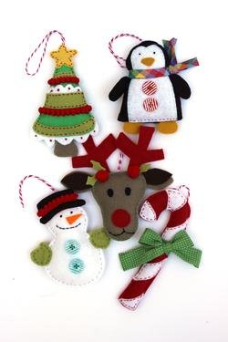 Felt Holiday Ornaments Pattern Download Connectingthreads