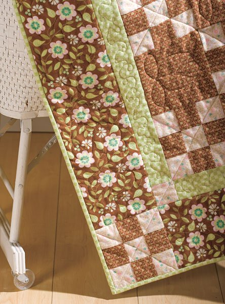 Baby Nine Patch Flannel Quilt Kit | ConnectingThreads com