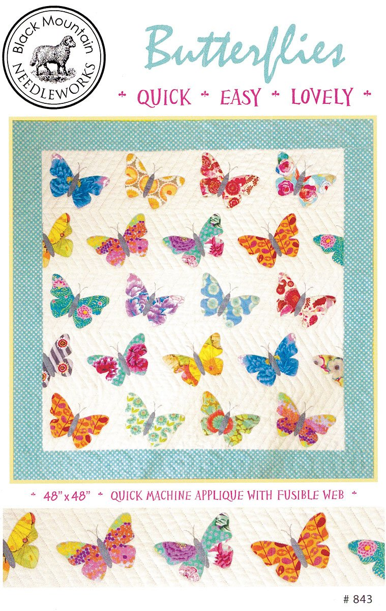 Butterflies are Free Quick and Easy Quilt Pattern