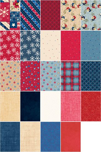 Patriotic Picnic Fat Quarter Sample