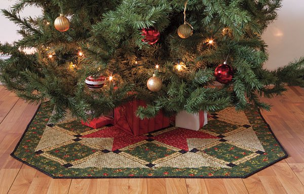 quilt kits christmas time tree skirt kit