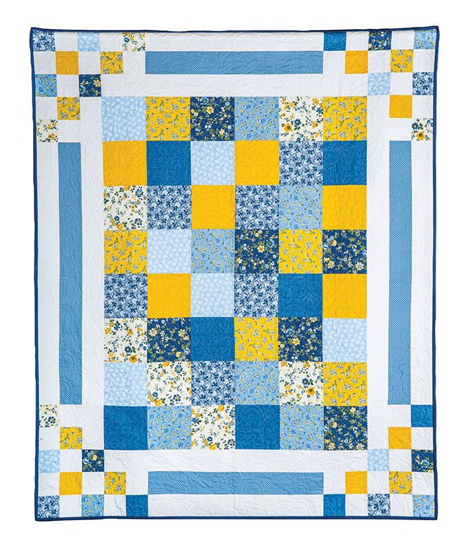 Bouncing Borders Larger-Pieced Center Quilt Kit
