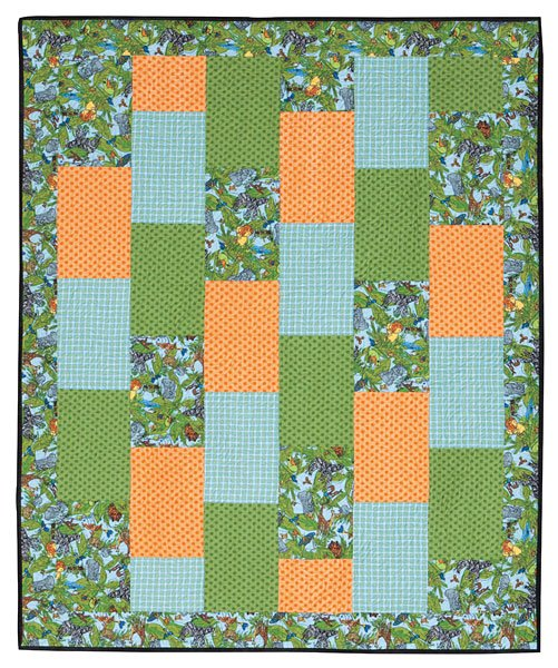 Brick Baby Flannel Quilt & Clutch Ball Kit