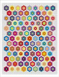 English Paper Piecing Double Ring Hexagon Quilt Pattern Free Pattern