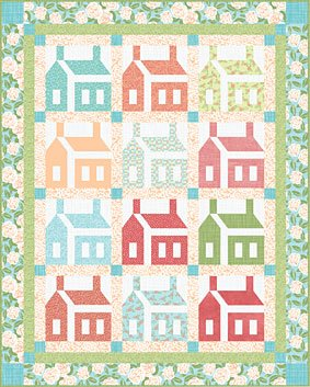 26 Letters Schoolhouses Quilt Pattern Download Free Quilt Pattern