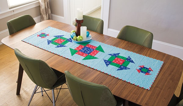 Quilt Kits » Dinner Date Table Runner U0026 Placemats Kit